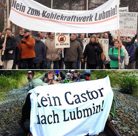 protest lubmin castor