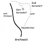 Weg zu Kunst Offen nach Klein Karrendorf