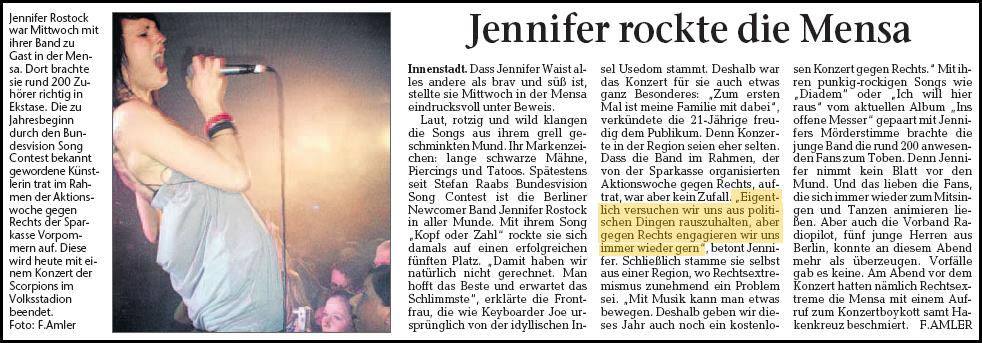 Jennifer Rostock Greifswald