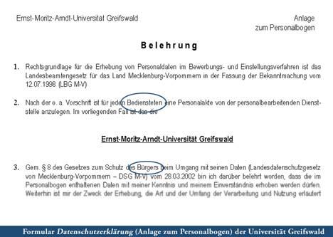 datenschutzbelehrung uni greifswald
