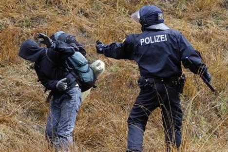 castor-pfefferspray polizei