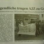 zeitungsartikel trauerzug greifswald