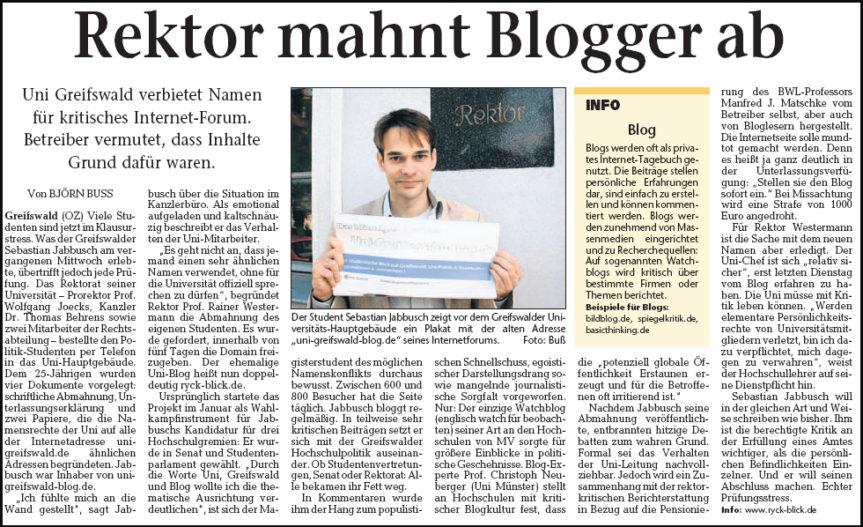 Echo auf Blogblockade
