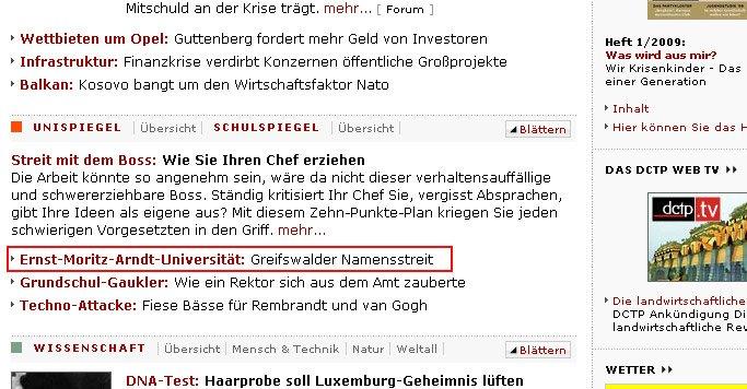Arndt jetzt auch bei Spiegel Online