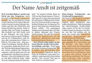 Greifswalder Arndt-Befürworter