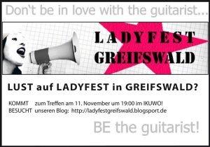 Flyer Ladyfest Greifswald