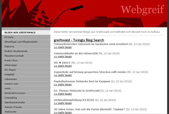 Übersicht im Dickicht der Greifswalder Blogs