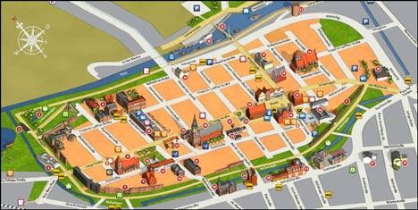 Kostenloser Stadtplan von Greifswald