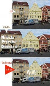 Bilder, die lügen: Wie die NPD ihr Auto vergrößert