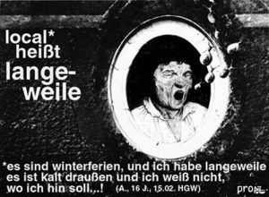 """Ausschnitte Greifswalder Subkultur in """"Bewegung und Räume"""""""