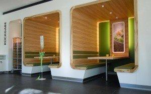 insgrüne Cafeteria Sitzecken Greifswald