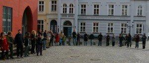 Nach den Brandanschlägen: Kundgebung auf dem Greifswalder Markt