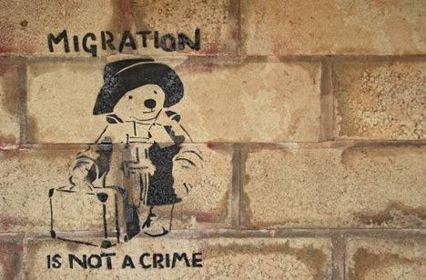 migration streetart