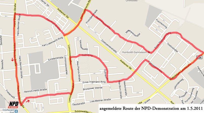 NPD Demo Route Greifswald