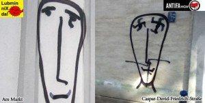 Stadt macht Atomgegner für Streetart verantwortlich