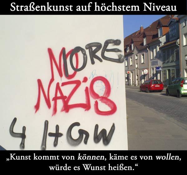 Nazischmierereien in Greifswald