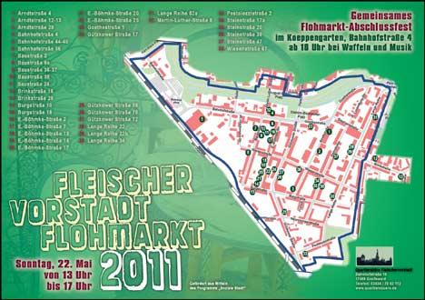 fleischervorstadt flohmarkt karte