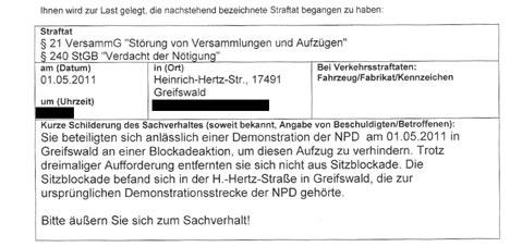 polizeipost blockade greifswald