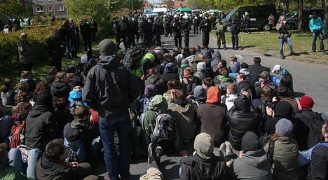 blockade npd greifswald