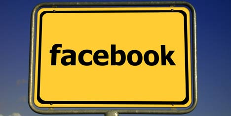 facebook schild