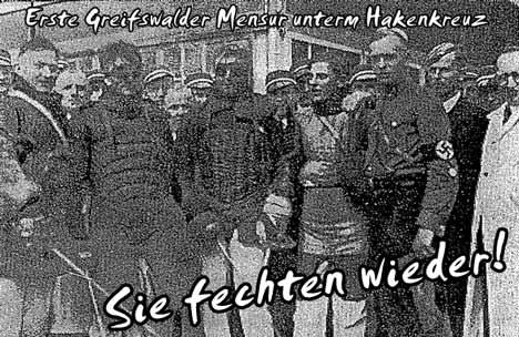 burschenschaften greifswald nazideutschland