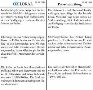 Steigt die Greifswalder Stadtverwaltung nun auf's Elektro-Radl um?