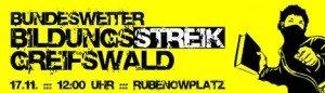 In Greifswald wird gebildungsstreikt