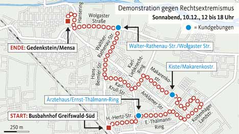 demo route antifa greifswald