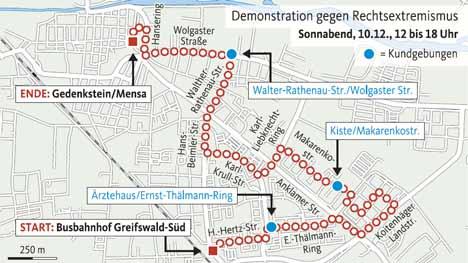 demo route antifa greifswald