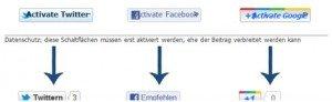 Intern: Datenschutz und Social Media Buttons #2