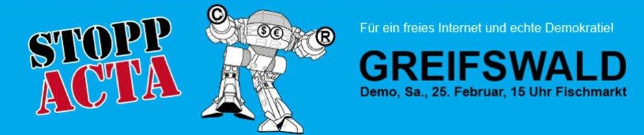 NDR über Anti-ACTA-Demonstration in Greifswald