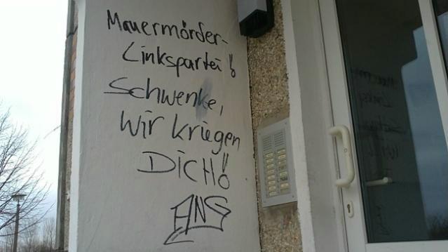 Mignon Schwenke Greifswald Drohung Neonazis