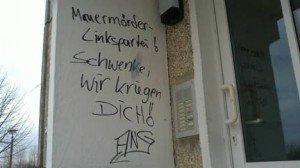 Neonazis drohen der Greifswalder Landtagsabgeordneten Dr. Mignon Schwenke (DIE LINKE)