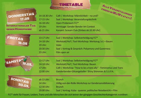 gender bender action days programm