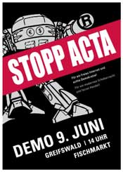 acta demonstration greifswald