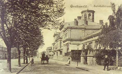 greifswald bahnhof strasse frueher
