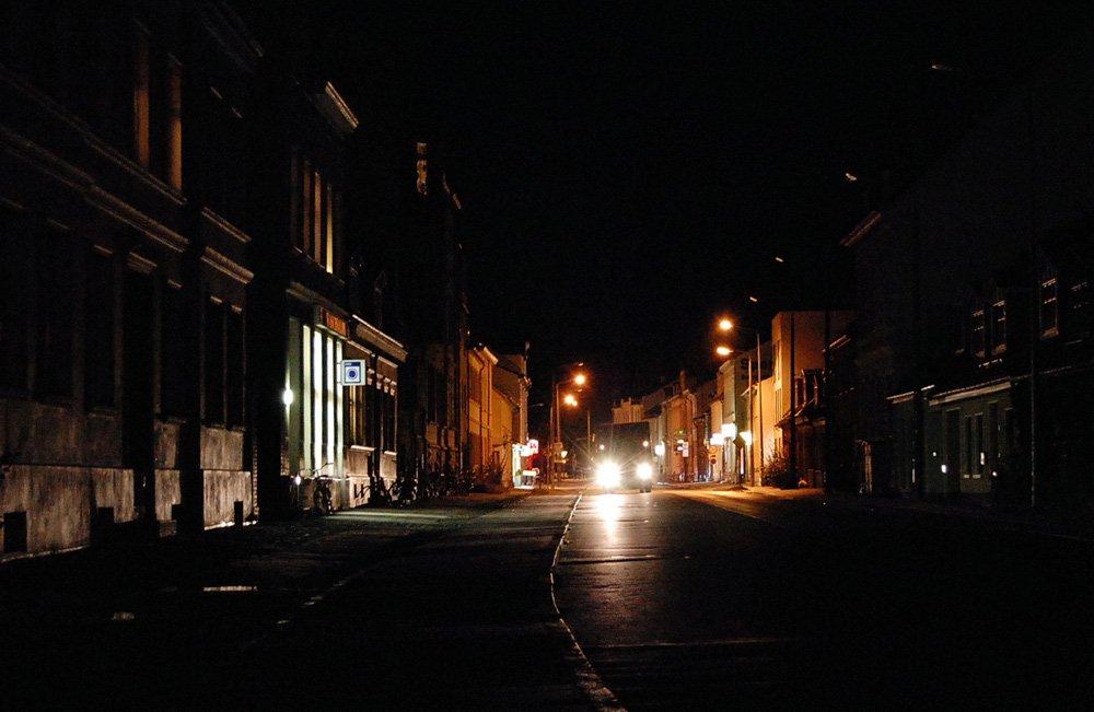 Gützkower Straße nachts