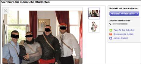 Burschenschaft Rugia lädt deutsche Studenten zum Tranchierkurs ein