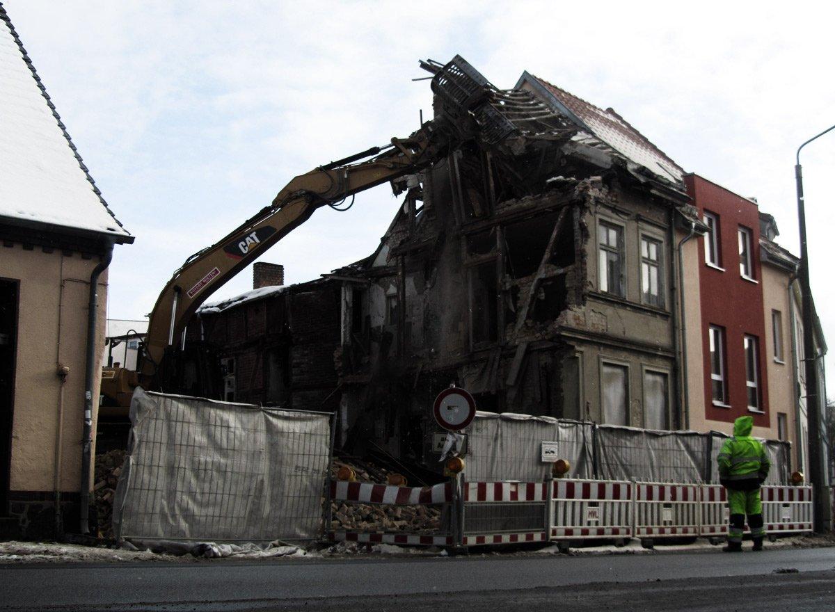 Gützkower Straße: Das nächste Haus fällt