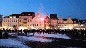 Festgehalten: Flashmob auf dem Greifswalder Markt