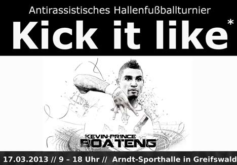 "Antirassistisches Fußballturnier ""Kick it like K. P. Boateng"""
