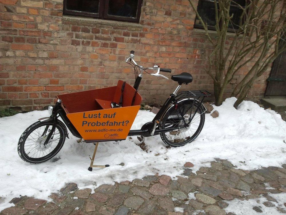 Lastenfahrrad Zeigt Alternative Transportmöglichkeiten