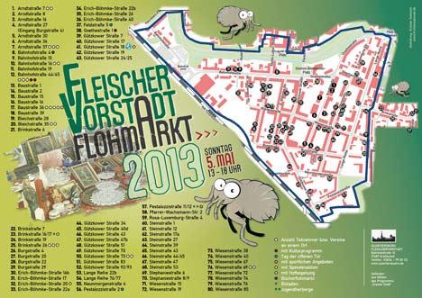 Lageplan Fleischervorstadt Flohmarkt