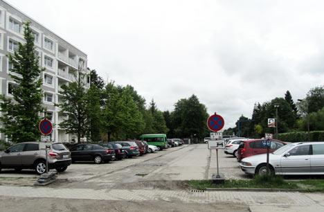 Boddenhus Parkplatz Greifswald