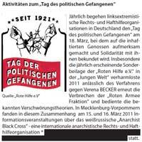 Verfassungsschutzbericht Tag des politischen Gefangenen