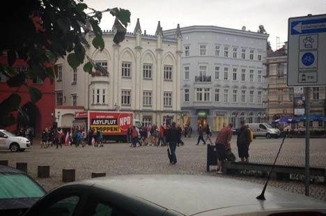 Kein zweites Rostock, doch trotzdem stand die NPD im Regen