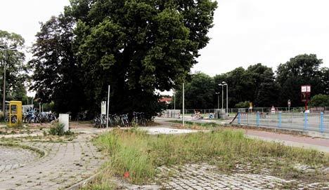 Sparkasse Container Bahnhof Greifswald