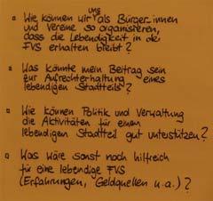 Fragen zur Verstetigungskonferenz im Quartier Fleischervorstadt