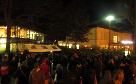 Eckard Rütz Gedenkveranstaltung in Greifswald vor der Mensa am Wall