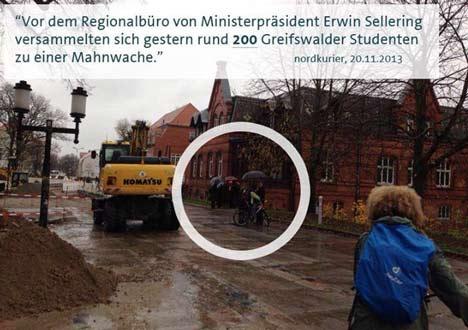 Nordkurier Mahnwache von Studierenden in Greifswald